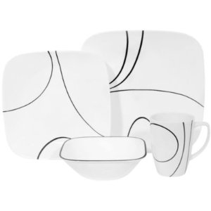 Corelle® Square 16-pc. Simple Lines Dinnerware Set