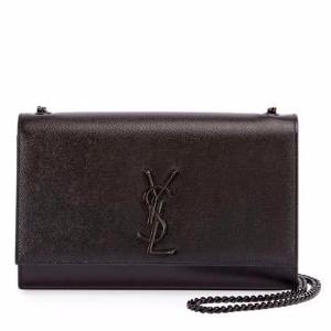 Monogram Kate Medium Chain Bag, Black