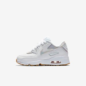Nike Air Max 90 Leather SE Little Kids' Shoe.