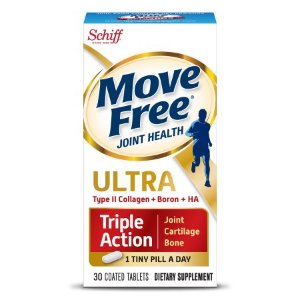 Schiff® Move Free Ultra® Triple Action Joint Cartilage Bone Dietary Supplement Coated Tablets 30 ct Box - Walmart.com