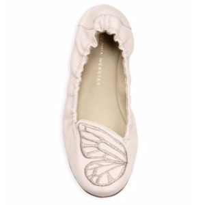 Bib Nappa Leather Ballet Flats
