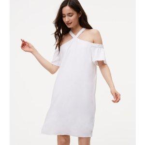 Cold Shoulder Flutter Dress | LOFT