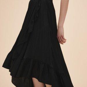 JONAH Long skirt with frills - Skirts & Shorts - Maje.com