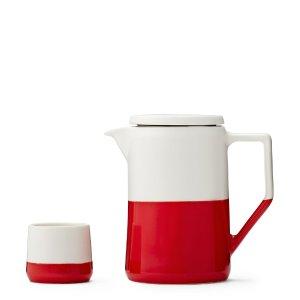 Red Ingrid Tea Set