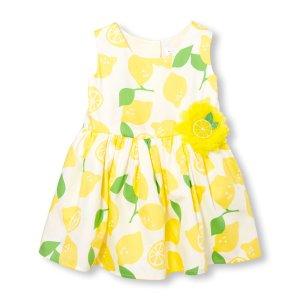 Toddler Girls Sleeveless Lemon Print Dress   The Children's Place