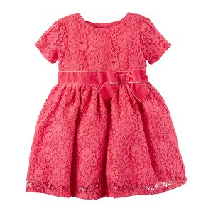 Lace Sleeve Holiday Dress