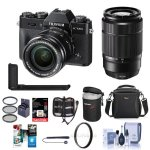 Fujifilm X-T20 Mirrorless Camera with XC 16-50mm / XC 50-230mm Lens W/Acc Bundle