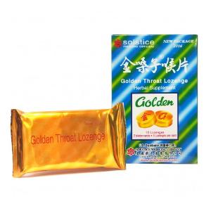 Golden Throat Lozenge Cough Drops (Jinsangzi Houpian) - 12 Tablet