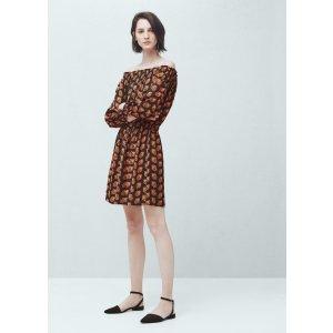 Flowy printed dress - Women
