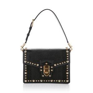 Studded Iguana Leather Top Handle Bag   Moda Operandi