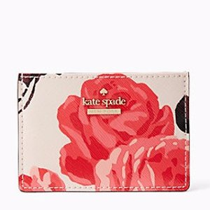 cameron street roses card holder   Kate Spade New York