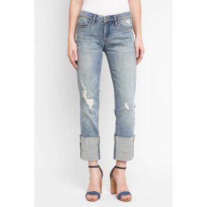Blank Cuffed Crop Straight Leg Jeans
