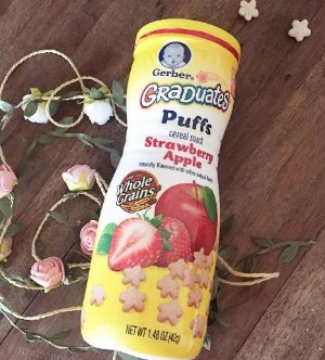 $10.92Gerber Graduates Puffs Cereal Snack, Strawberry Apple, Naturally Flavored with Other Natural Flavors, 1.48 Ounce, 6 Count