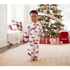 Firetruck Flannel Pajama | Pottery Barn Kids