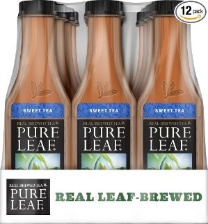 $8.34 + Free Shipping Pure Leaf Iced Tea, Sweet Tea, Real Brewed Black Tea, 18.5 Ounce Bottles (Pack of 12)