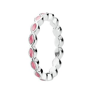 PANDORA Better Together Silver Enamel Ring