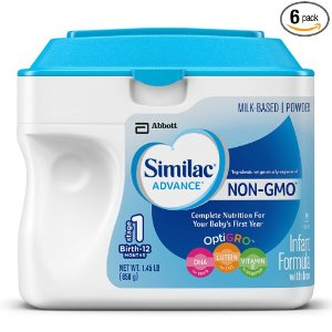 $109.95 + Free ShippingSimilac Advance Non-GMO Infant Formula, Powder, 23.2 Ounces (Pack of 6)