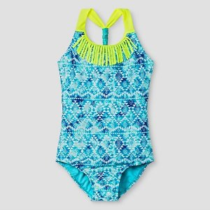 Girls' One-Piece Swimsuit Cat & Jack™ - Blue : Target