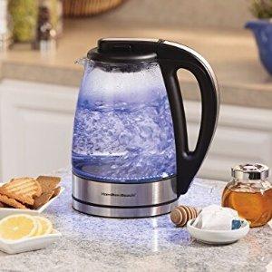 $21.59Hamilton Beach 40865 Glass Electric Kettle, 1.7-Liter