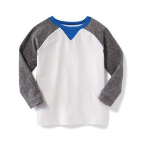 Color-Blocked Raglan Tee for Toddler Boys