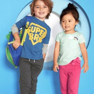 T恤打底裤不论尺码$5Carter's 童装Doorbuster促销,运动长裤$6起包邮
