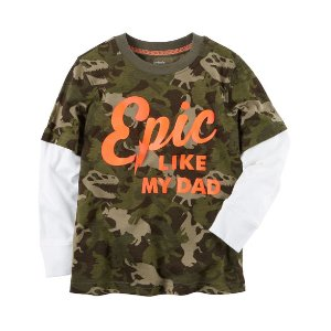 Long-Sleeve Layered-Look Epic Graphic Tee