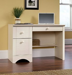 $68.55 Lowest priceSauder Harbor View Computer Desk, Antiqued White Finish