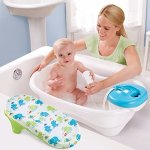 Summer Infant Newborn to Toddler Bath Center and Shower, Blue
