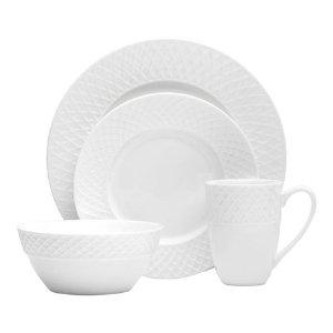 Mikasa® Trellis White 32 Piece Dinnerware Set