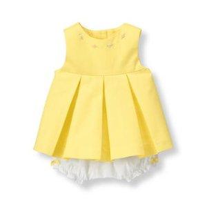 Baby Girl Lemon Embroidered Floral Set at JanieandJack