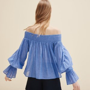 LOVA Blouse with smocking - Tops & T-Shirts - Maje.com