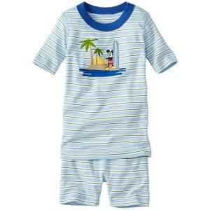Kids Disney Mickey Mouse Short John Pajamas In Organic Cotton | Girls Short Johns
