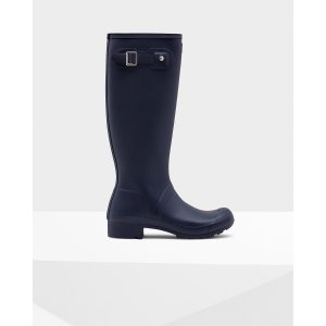Womens Blue Packable Rain Boots | Official Hunter Boots Store