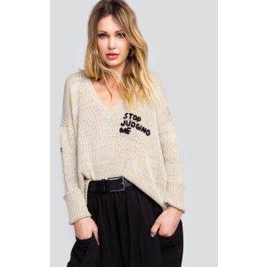 Stop Judging Me Pier Sweater | Wildfox