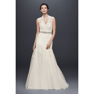 Melissa Sweet Cap Sleeve Lace Wedding Dress - Davids Bridal
