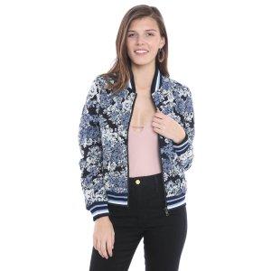 Blank Reversible Floral & Vegan Leather Bomber Jacket | South Moon Under
