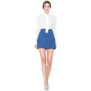 Bianka Side Pleat Mini Skirt