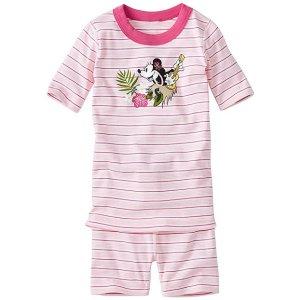 Kids Disney Minnie Mouse Short John Pajamas In Organic Cotton | Girls Short Johns