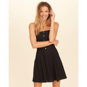 Girls Button-Front Skater Dress | Girls Dresses & Rompers | HollisterCo.com