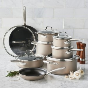Today Only! 71% OffSur La Table 15-Piece Hard Anodized Bronze Cookware Set