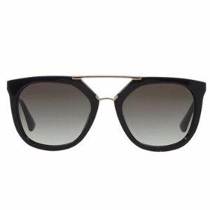 Prada Straight-Brow Double-Bridge Sunglasses