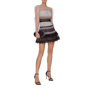 Bellis Ruffled Lace Dress | Moda Operandi