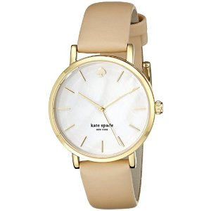 kate spade new york Goldtone Metro Vachetta Leather Watch