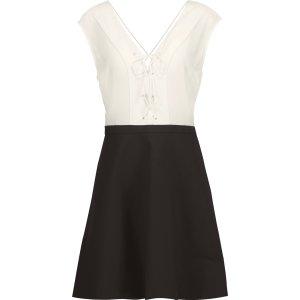 Rupa lace-up silk and cotton-blend mini dress