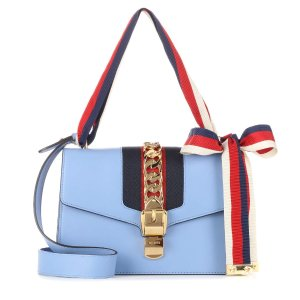Sylvie Leather Shoulder Bag - Gucci