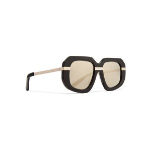 Superstars Creeper square-frame acetate and metal sunglasses | Karen Walker