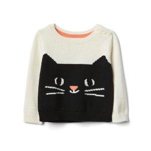 Halloween kitten crew sweater