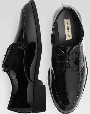$13Pronto Uomo Patent Tuxedo Men's Dress Shoes Sale