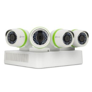 EZVIZ 4 Channel 720p HD Security System with 1TB Hard Drive, 4 720p Weatherproof Bullet Cameras