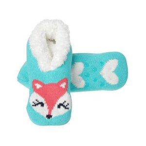 Toddler Girls Teal Fox Slipper Socks by Gymboree